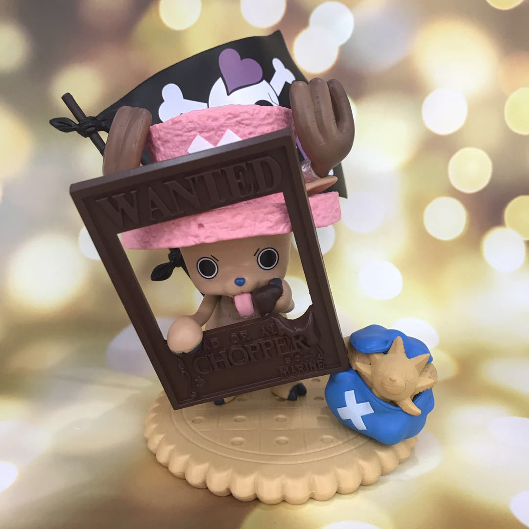 17cm Anime One Piece Chopper Premium Season Figure Valentine 2012 Ver Model Wanted Order Photo Frame Action Figure Chocolate Toy image