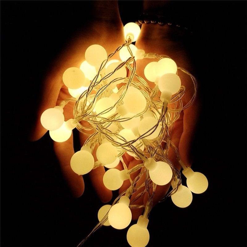 Ball 5M 50led Battery led string light outdoor decoration light for holiday Xmas wedding Party Festival Christmas lights Decor led string lights 100m 600 led xmas holiday light for holiday festival celebration home wedding party decoration commercial use