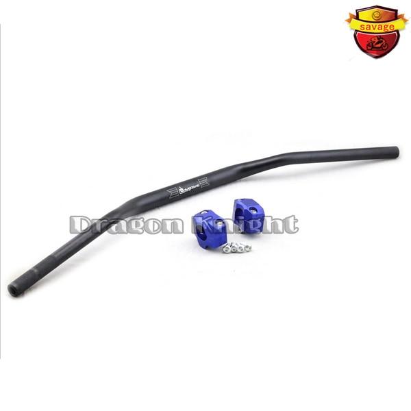 ФОТО 28mm Alloy riser handlebars for off-road Handlebar Steering Wheel & Riser handlebar FOR HONDA CRF250R CRF450R XR230 XR250 BLUE