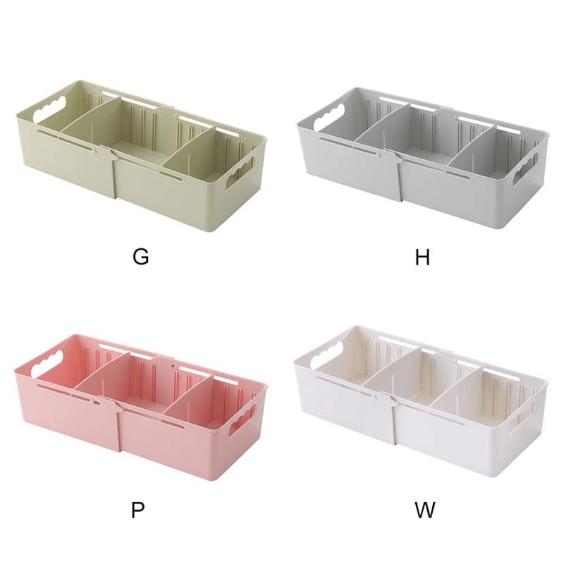 Multi-Funtional Stackable Storage Box Retractable  Drawer Storage Box  Underwear Socks Sundries Separate Storage Boxes(China)