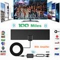 100 Miles ТВ антенна с усилителем сигнала наружная антенна цифровая HD ТВ акции антенны DVB-T2 DVB-T ATSC ISDB-T D ТВ антенна для ТВ