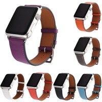 Luxury Litchi Bất Genuine Leather Watch Nhạc cho Series 1 2 3 Đơn Tour Strap cho Apple Xem iWatch Bracelet 42 mét 38 mét