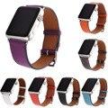 Litchi lujo Verdadera Del Cuero Genuino Venda de Reloj para la Serie 2 sola correa gira para apple watch iwatch pulsera 42/38mm 7 colores