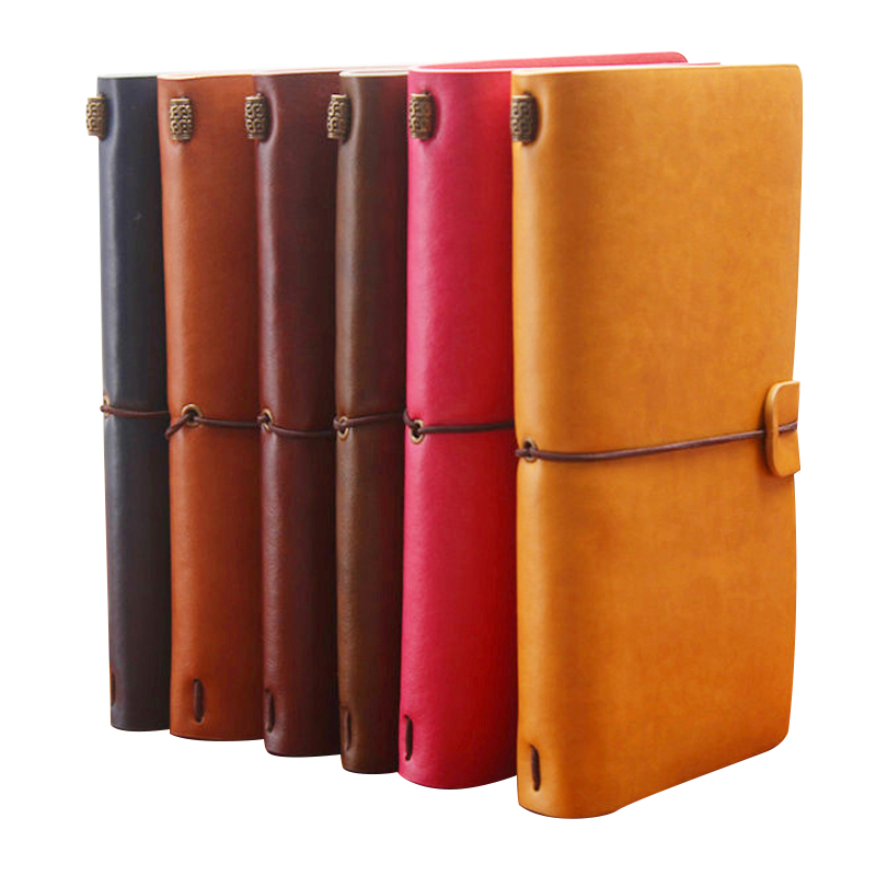 Creative Genuine Leather Traveler's Notebook Diary Journal Vintage Handmade Cowhide Travel book Gift Stationery Office Supplies vintage handmade leather diary notebook sketchbook travel journal blank writing paper note books gifts school office stationery