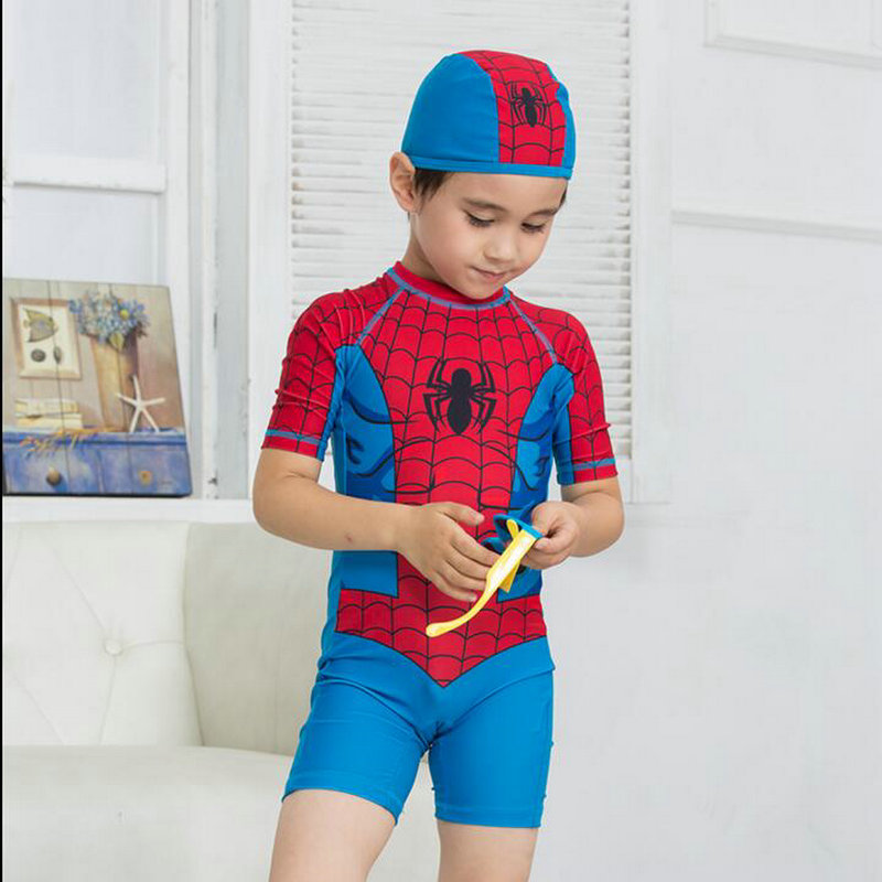 Spiderman Costume Kids Swimwear Boy Girls High Quality Summer Style