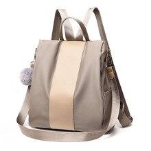 New fashion lady bag anti-theft women backpack 2019 hight quality nylon vintage backpacks female large capacity women's shoulder