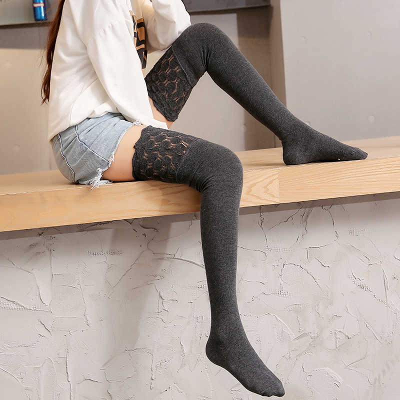 e06d1364d ... YIKOU Women's autumn winter South Korea three-dimensional lace socks  female girls non-slip ...