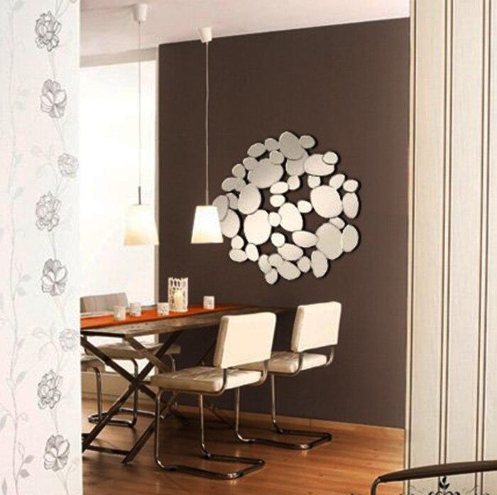 Morden Pebble pared espejo comedor adoquín pared Espejos decorativos ...