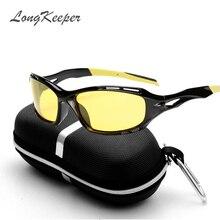 ФОТО long keeper car drivers night vision goggles anti-glare polarizer sunglasses polarized driving glasses with box men sun glasses