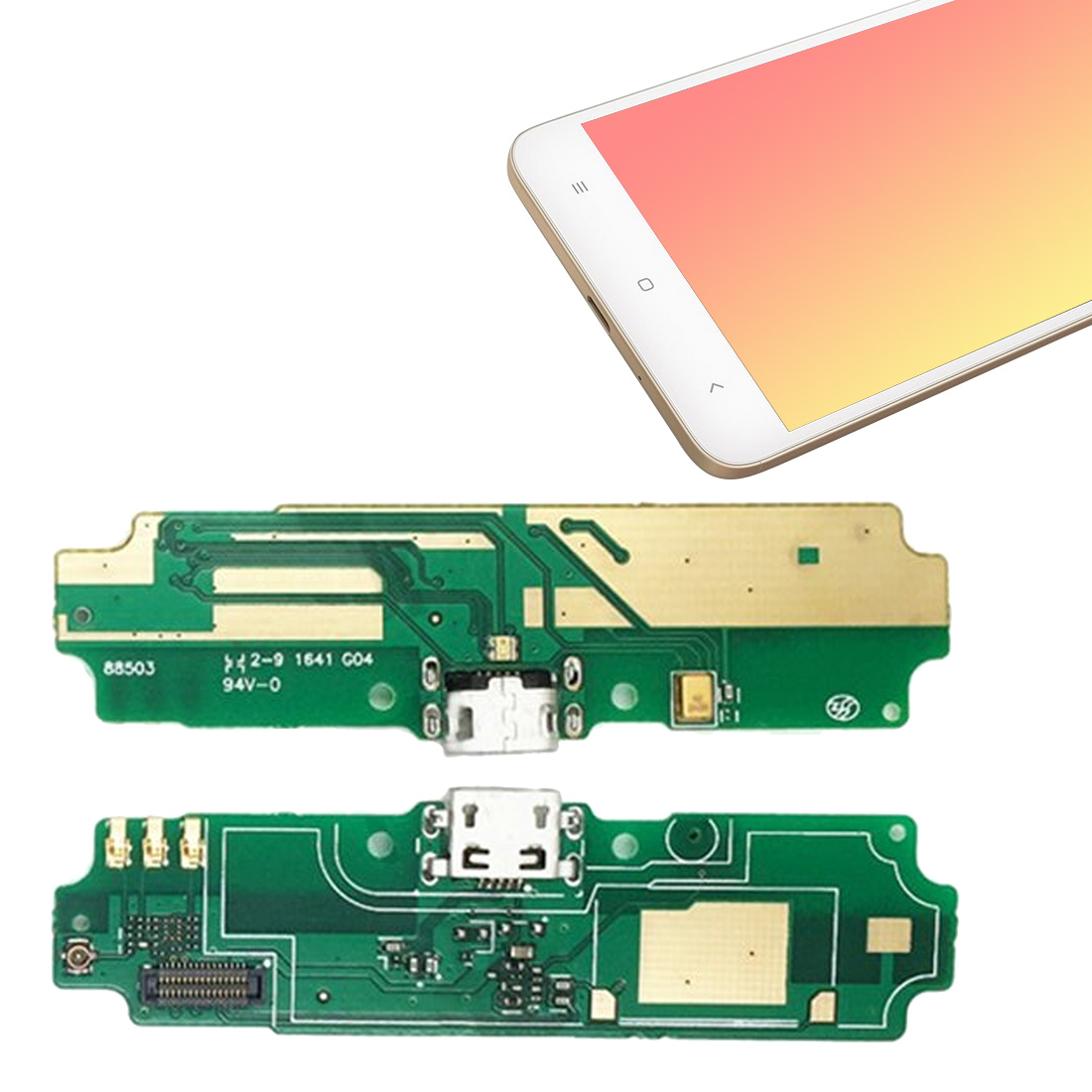 USB Charging Port Charger Board Flex Cable For Xiaomi Redmi 4A  Dock Plug Connector With Microphone Board