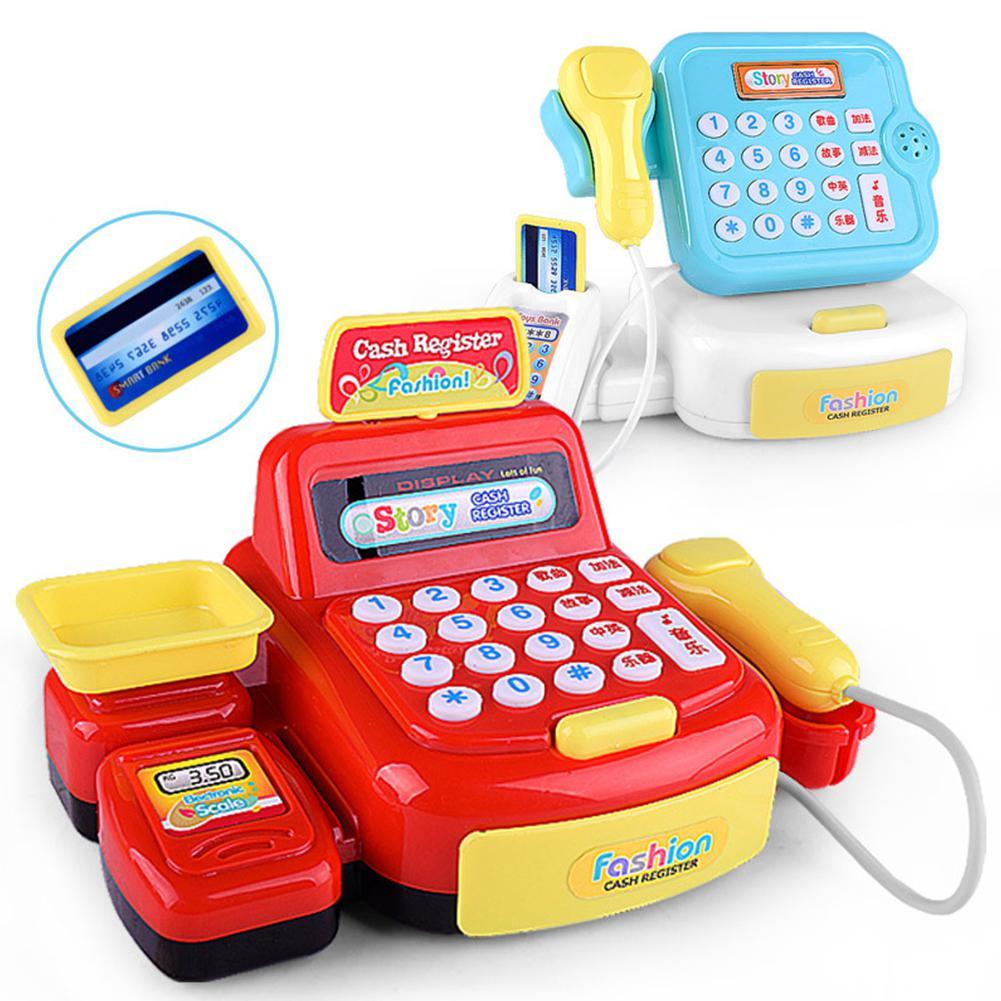 Supermarket Cash Register Simulation Cash Register Children's Early Education Toy Baby Kids Pretend Play Educational Toys