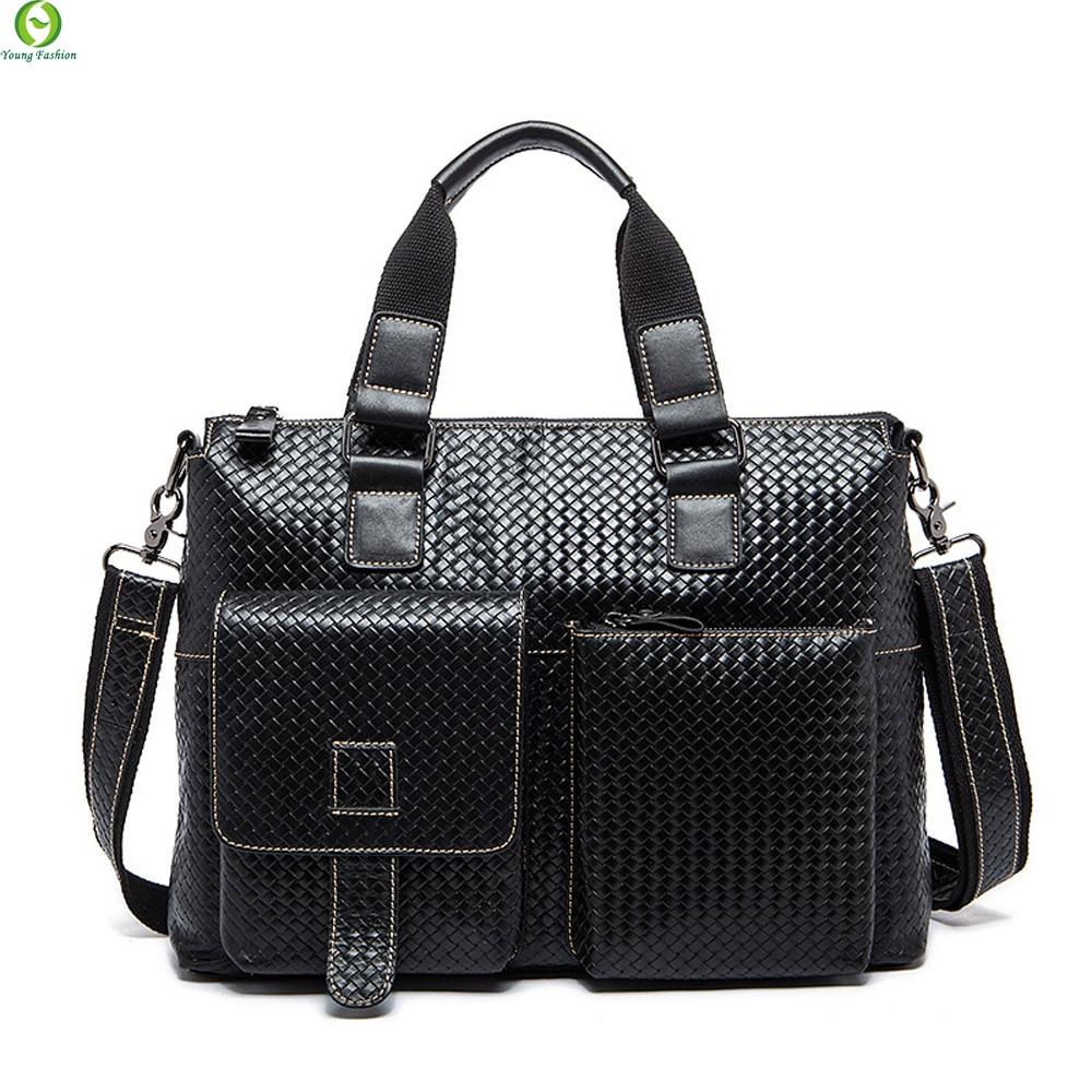 100% Genuine Leather Men Bag Shoulder Bags Brand Fashion New vintage Laptop Business Mens Travel bags tote Men messenger bags