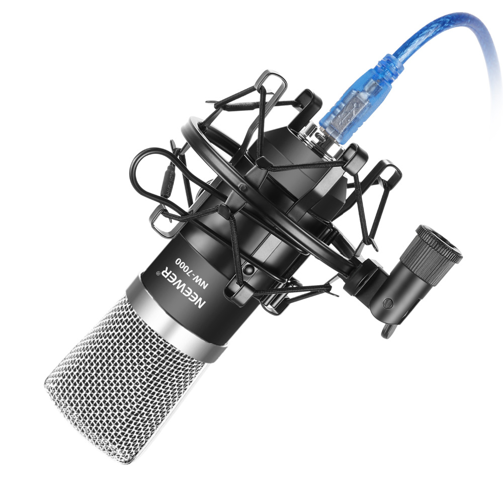 Neewer NW-7000 USB Condenser Microphone Kit for Windows and Mac with Metal Microphone Shock Mount Ball-type Anti-wind Foam CapNeewer NW-7000 USB Condenser Microphone Kit for Windows and Mac with Metal Microphone Shock Mount Ball-type Anti-wind Foam Cap