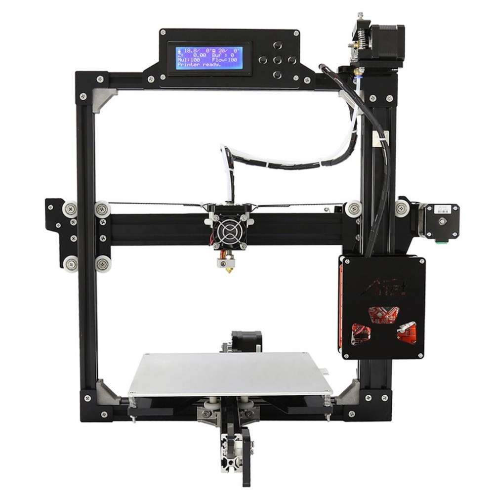 Professional LCD Screen Display 3D Printer 100MM/S MAX Printing Speed Large Printing Size DIY 3D Printer Kit new x5 desktop 3d printer big lcd display low decible diy 3d printers kit heated bed with 1 roll filament 8gb sd gifi