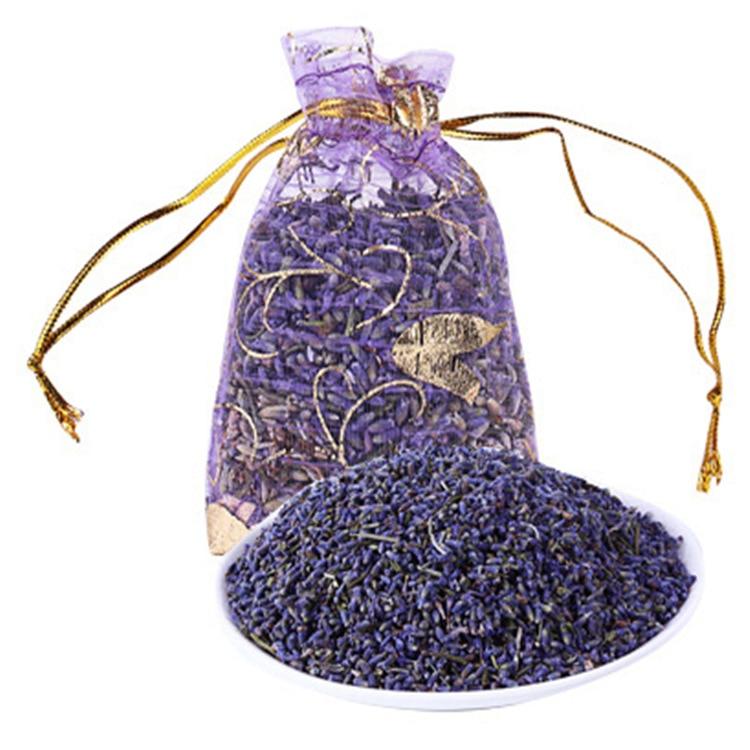 1 Pcs/ Lot Natural Lavender Bud Dried Flower Sachet Bag Aromatherapy Aromatic Air Refresh