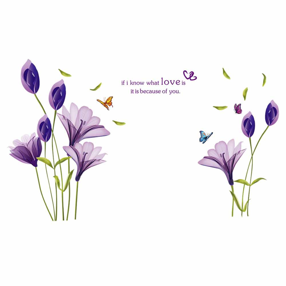 2017 new arrival removable flowers mural wall sticker Mural of flowers