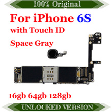 16 Гб/64 Гб/128 ГБ материнская плата для iphone 6s разблокированные Материнские платы Для iphone 6s без/с отпечатком пальца