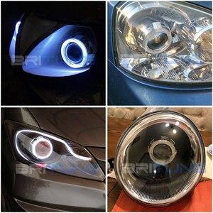 Image 5 - Светодиодный биксеноновый прожектор Angel Devil Eyes H4 H7, линзы для фар COB DRL, линзы Halo Mini 2,5 для автомобильных фар, модификация аксессуаров