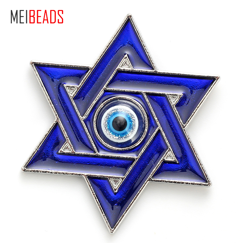 Jewelry & Accessories Straightforward Meibeads Fashion Evil Eye Alloy Blue Star Charm Blue Eye For Fridge Magnet & Alloy Fridge Decoration Jewelry Accessories Ey4737 Jewelry Sets & More