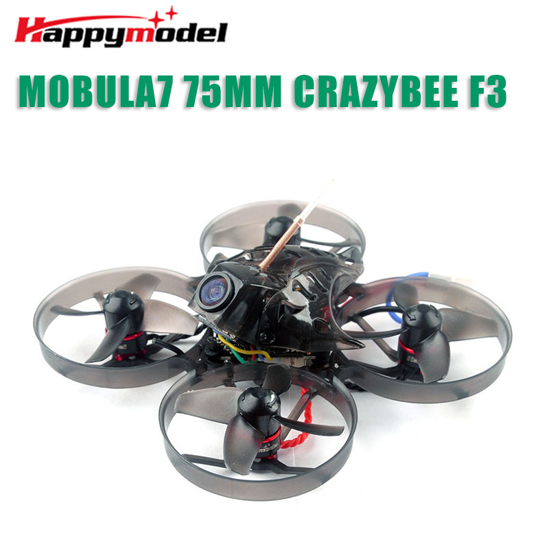 Happymodel Mobula7 75mm Whoop crazy ybee F3 Pro OSD 2S FPV course Drone quadrirotor avec mise à niveau BB2 ESC 700TVL BNF