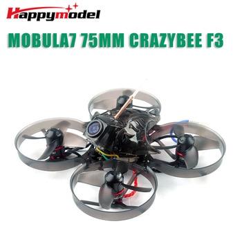 Happymodel Mobula7 V2 75mm Whoop Crazybee F3 Pro OSD 2S FPV Racing Drone Quadcopter w/ Upgrade BB2 ESC 700TVL BNF