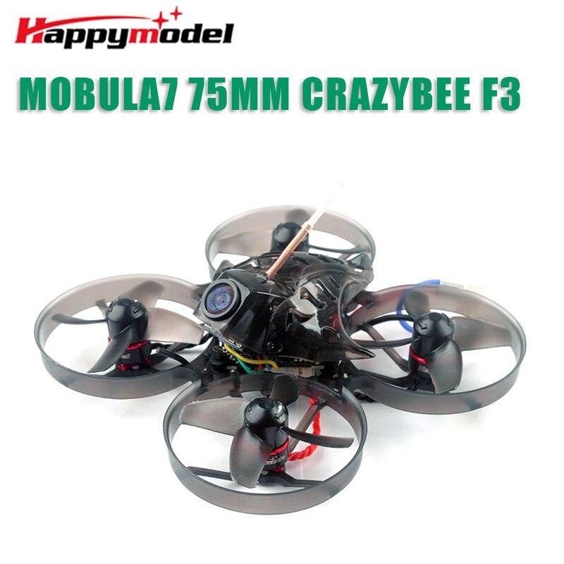 Happymodel Mobula7 75mm Grito Crazybee F3 Pro FPV OSD 2S Corrida Zangão Quadcopter w/Upgrade BB2 ESC 700TVL BNF