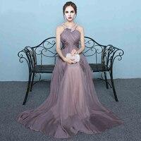 Robe De Soiree MZMSRHS Chiffon Beading Sexy Backless Evening Dress Long Bride Gowns Halter Floor Length