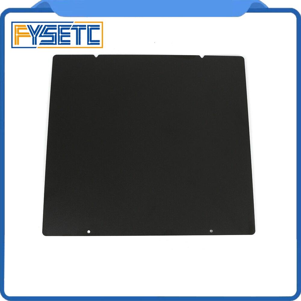 Prusa I3 MK3 MK52 noir Double face texturé PEI printemps tôle d'acier enduit de poudre PEI plaque de construction pour Prusa i3 MK2.5S mk3 MK3S