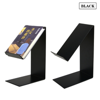 Linliangmuyu 5pcs wholesale metal black iron book destop display stand holder rack high quality ZS12