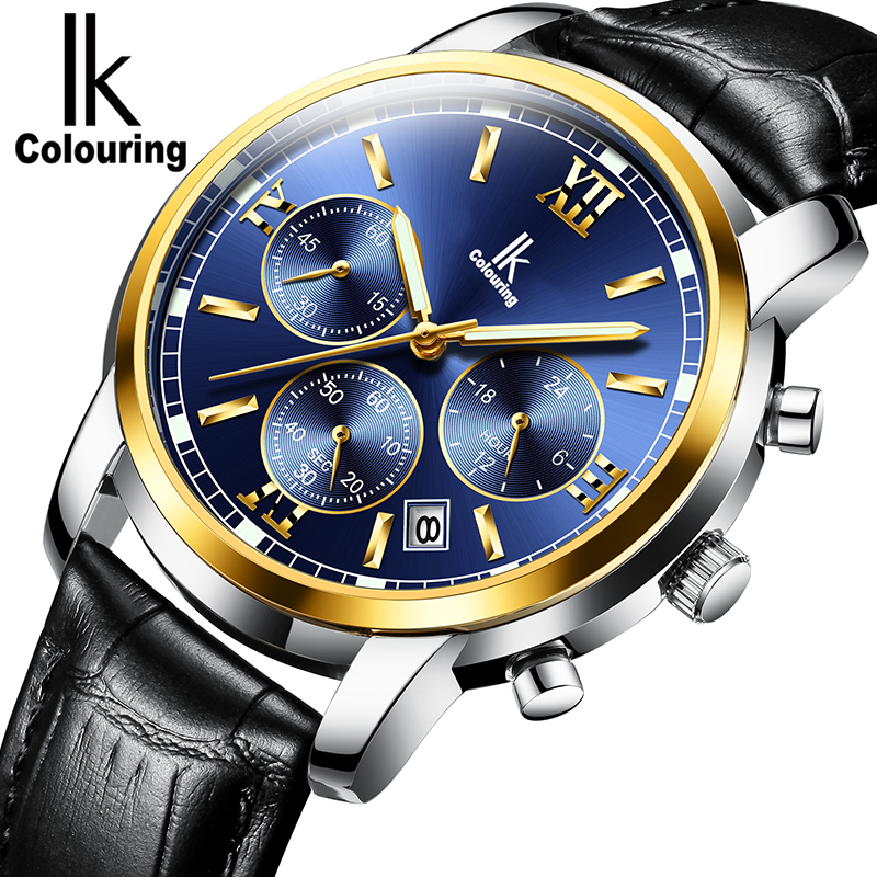 IK Colouring Watch men's luminous fashion multi-functional student quartz watch waterproof new trend men's watch цена и фото