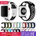 FOHUAS бренд кремния спортивные группы красочные ремешок для Apple Watch 38/42 мм черный/салатовый браслет серии 2 и 1 iwatch ремешки