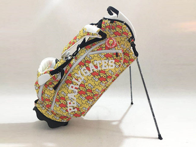Brand New Pearly Gates Golf Bag Orange PG Standard Golf Clubs Rack Bag Pearly Gates EMS