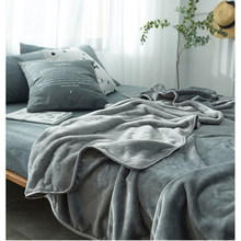 Flannel Solid Color Blanket Bedding Autumn/Winter Use Warm Soft Blankets Throw on Sofa/Bed/ Travel Patchwork Solid Bedspread New(China)