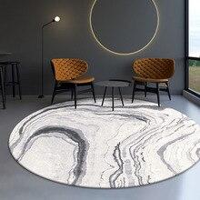 Скандинавский круглый ковер домашний декор гостиной круглый коврик толстый ковер для спальни современный дизайнерский половик Диванный кофейный столик коврики