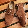 Zapatos Ocasionales de los hombres 2016 con cordones Planos de Los Hombres Zapatos Casuales Hombres Zapatos Masculinos de Cuero Zapatos de Los Planos Más El Tamaño 38-48