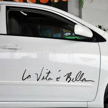 Funny Sticker Life Is So Beautiful La Vie Est Si Belle Car Sticker Auto Decal Car Accessories for Tesla Bentley Jaguar Volvo(China)