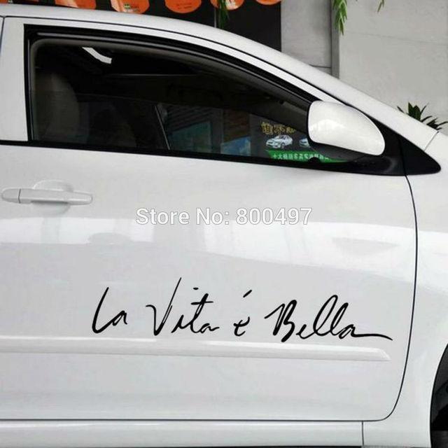 299e036be6f Funny Sticker Life Is So Beautiful La Vie Est Si Belle Car Sticker Auto  Decal Car Accessories for Tesla Bentley Jaguar Volvo