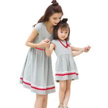 Женское летнее платье для дочери стильные хлопковые платья матери