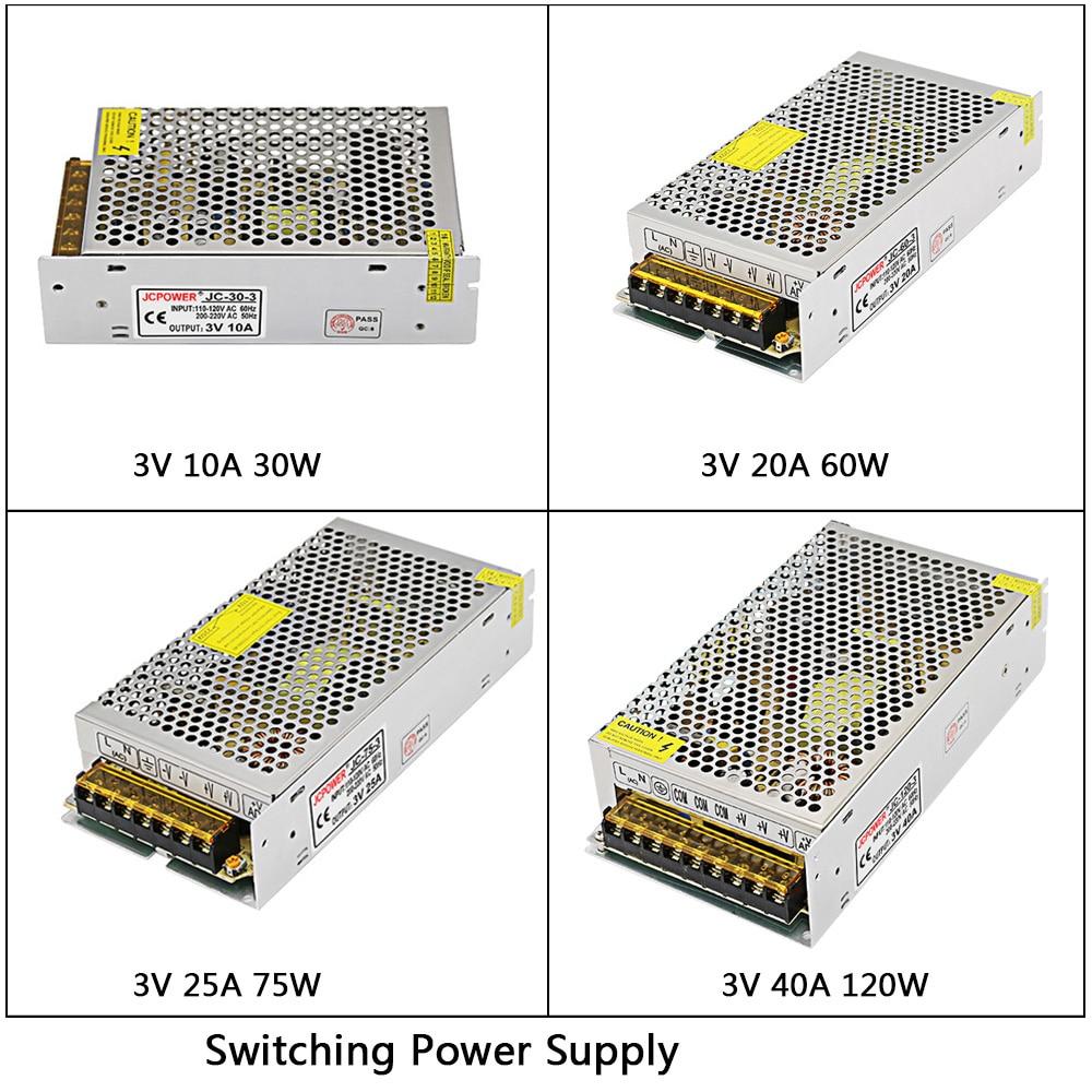 DC3V 10A/20A/25A/40A 180W led Switching Power Supply AC110V 220V to DC 3V Driver Transformer For LED Strip Light CNC