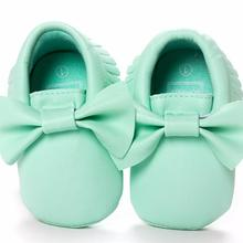 ROMIRUS Baby Girls cute bow Pirncess shoes Pu leather moccasins Infant Toddler N