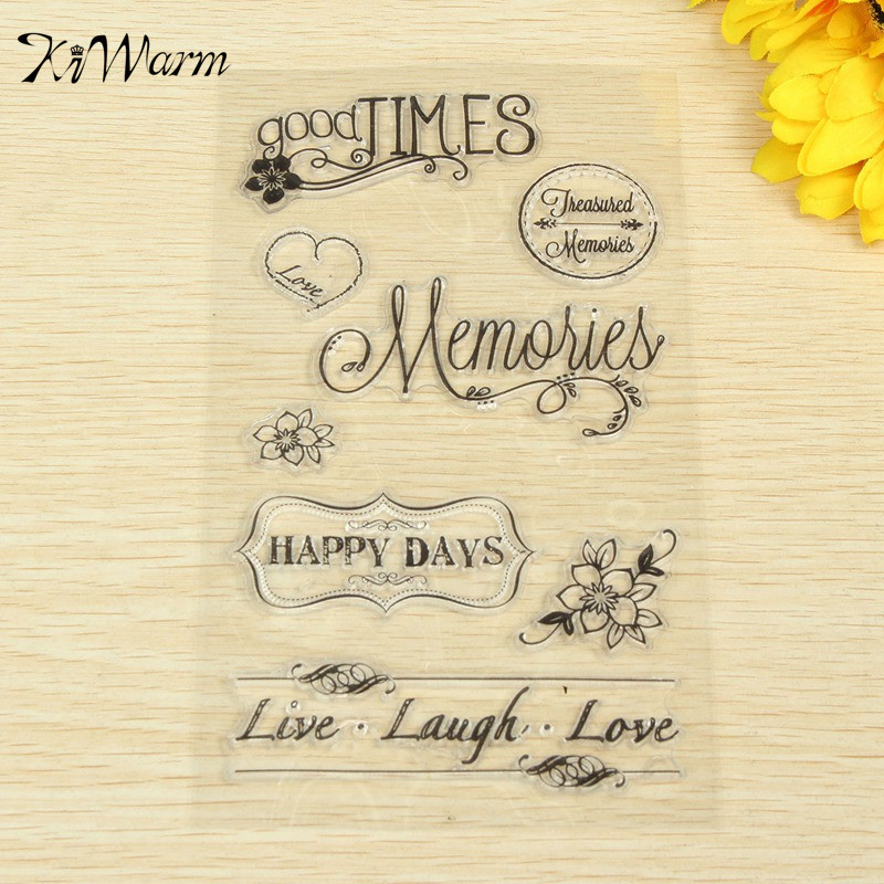 new arrival flower letter transparent stamp for hand account scrapbooking photo album diary card decor diy