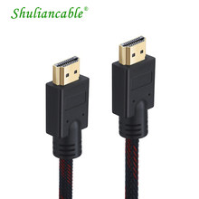 Shuliancable de alta velocidad adaptador de CABLE HDMI 1080p 3D para Apple TV PS3 HD LCD portátil proyector cable de la computadora 1m ~ 5m 10m 15m 20m 25(China)