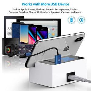 "Image 3 - 4 יציאת USB מרובה מטען רכזת 5 V 4A שולחן עבודה רב USB מטען קיר עבור Smartphone Tablet USB תקע מטען האיחוד האירופי ארה""ב בריטניה"
