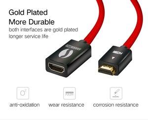 Image 3 - HDMI 연장 케이블 V2.0 0.5M 1M 1.5M 2M 3M 남성 여성 Extender HDMI 케이블 골드 도금 금속 SHELL1080P 3D