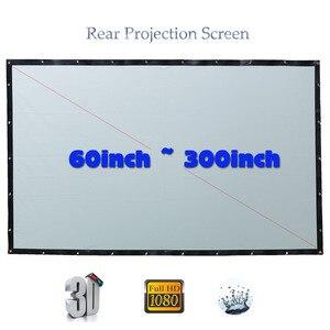 Image 1 - Yovanxer HD הקרנה אחורית מסך מיוחד רך PVC עבור כל מקרן קולנוע ביתי חיצוני מסכי 16:9/4:3 אופציונלי