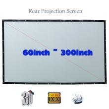 Yovanxer HD schermo di proiezione posteriore speciale PVC morbido per qualsiasi proiettore Home Theater schermi esterni 16:9/4:3 opzionale