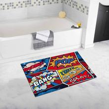 Retro Pop Art Comic Shout Non Slip Bathroom Mat Bath Rug, 20