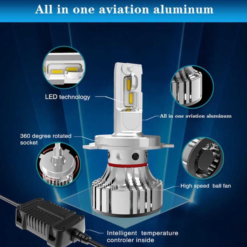 headlight bulb 72W H4 led HB2/9003 Hi/Lo H7 H11 9005 HB3 9006 HB4 Car Headlight Led High Power White 6500K car-styling