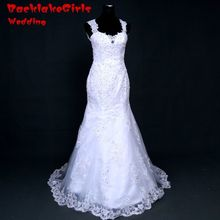 Real picture Free Shipping Custom made Sweetheart-Neck Wedding Dresses lace Appliques Bridal Gowns Wedding Dress 2017