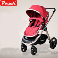 Pouch Stroller High Landscape Portable Baby Cart Trolley Folding Seat